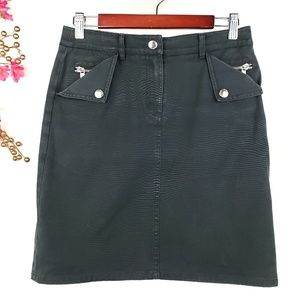 Michael Kors black jeans skirt sz 2